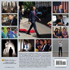 Obama Calendar back