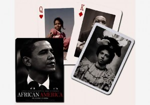 african america playing cards - obama